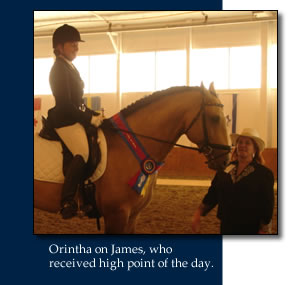 Orintha on James, who received high point of the day